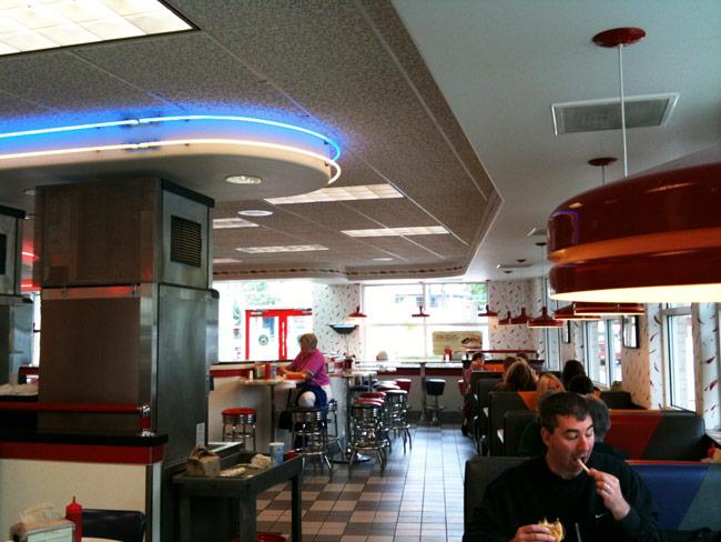 Interior design of fast food restaurant home decorating